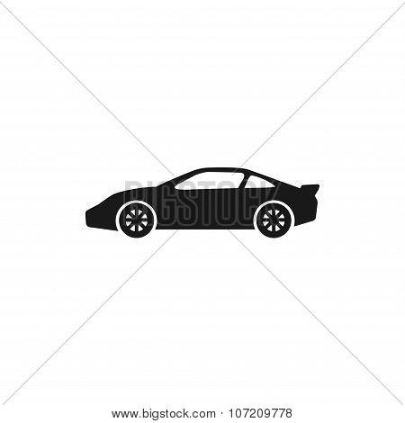 Car Icon. Flat Design Style