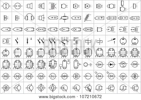 96 Electronic and Electric Symbols v.2