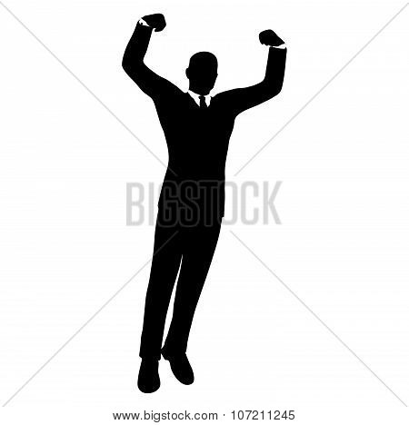 Businessman Silhouette In Gorilla Posev