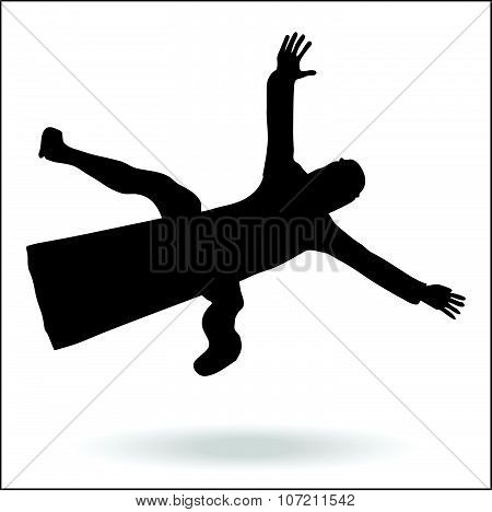 Middle East Style Dressed Man Falling