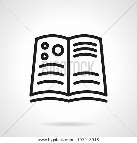 Book of astronomy simple line vector icon