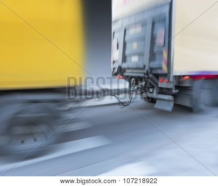 Trailer Attached To Truck