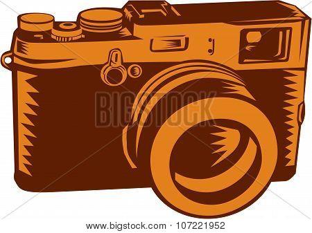 Camera 35Mm Vintage Woodcut