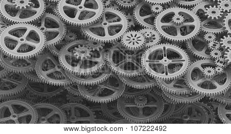 Background from cogwheels