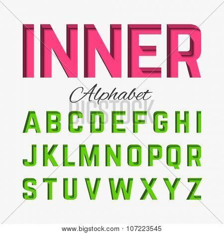 Inner alphabet. Vector.