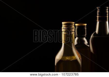 Luxury Alcoholic Drinks On Dark Background