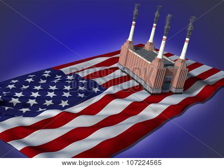 national heavy industry concept - USA theme