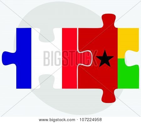 France And Guinea-bissau Flags