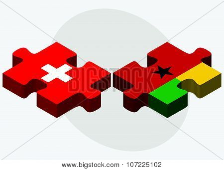 Switzerland And Guinea-bissau Flags
