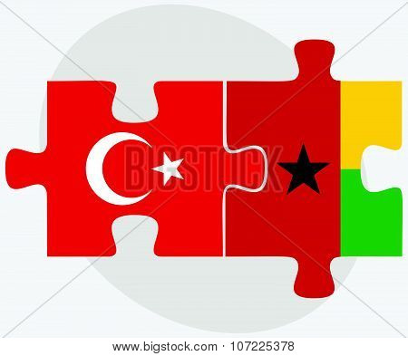 Turkey And Guinea-bissau Flags