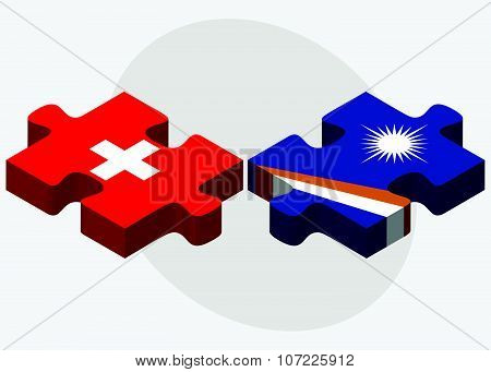 Switzerland And Marshall Islands Flagsswitzerland And Marshall Islands Flags