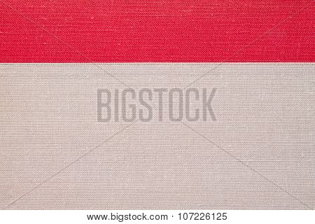 Gray And Red Old Woven Book Cover