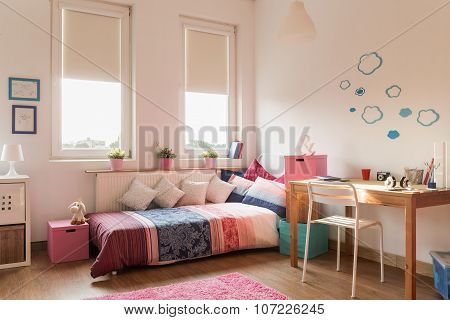 Bed And Desk
