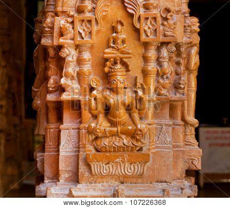 Bas-relief Of Goddess Tara, Female Buddha, India.