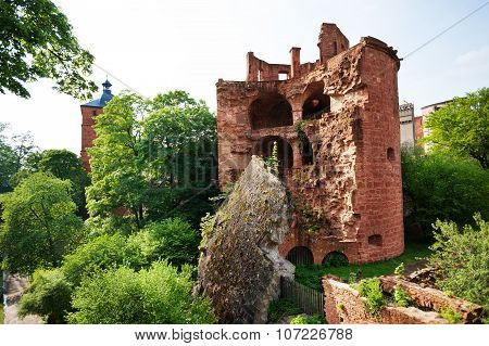 Schloss Heidelberg ruined south east tower view