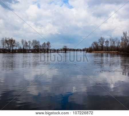 River Landscape In Early Spring
