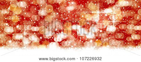 Abstract red white background with blurry lights and light effects that give it a magical feeling as a backdrop for the Christmas season or any festive occasion.