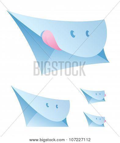 A Set Of Smiling Envelopes