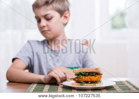 Kid Doesn't Want Healthy Sandwich