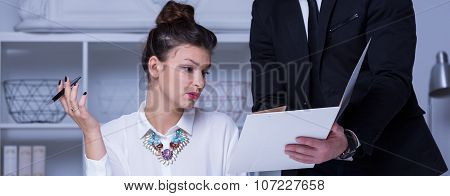 Stressful Working With Businesswoman
