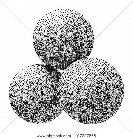 Dotwork Halftone Vector Spheres