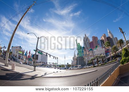 New York Hotel from Tropicana Ave day photo