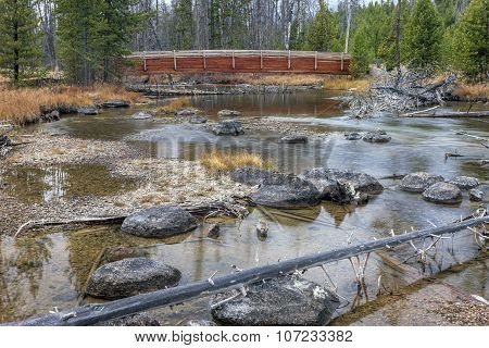 Redfish Creek In Stanley, Idaho.