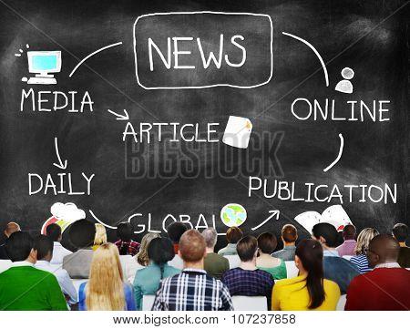 News Publication Online Article Media Concept
