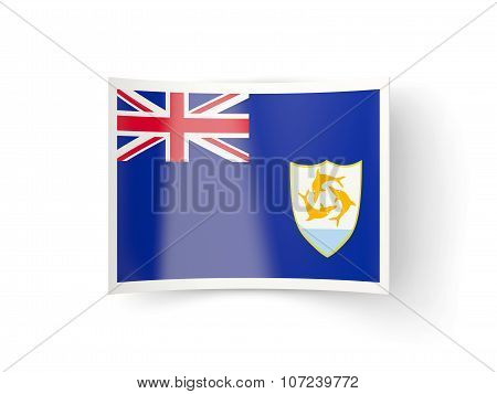 Bent Icon With Flag Of Anguilla