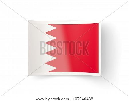 Bent Icon With Flag Of Bahrain