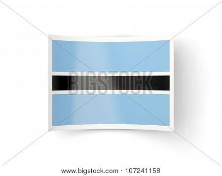 Bent Icon With Flag Of Botswana