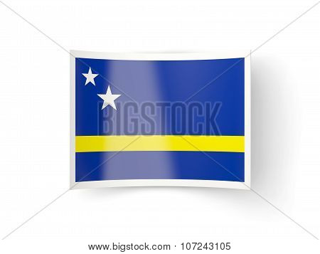 Bent Icon With Flag Of Curacao