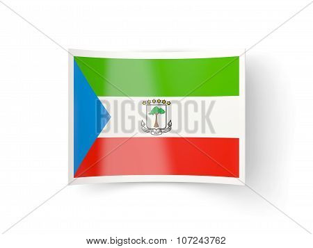 Bent Icon With Flag Of Equatorial Guinea