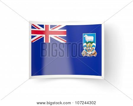 Bent Icon With Flag Of Falkland Islands