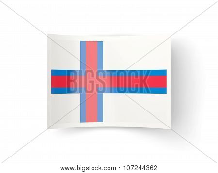 Bent Icon With Flag Of Faroe Islands