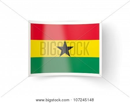 Bent Icon With Flag Of Ghana