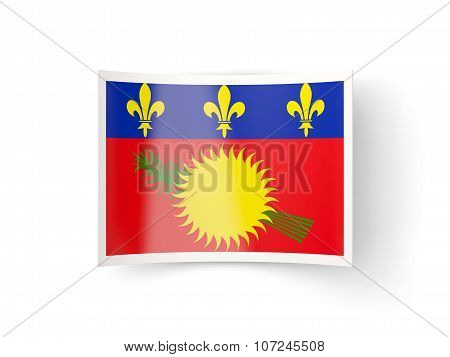 Bent Icon With Flag Of Guadeloupe