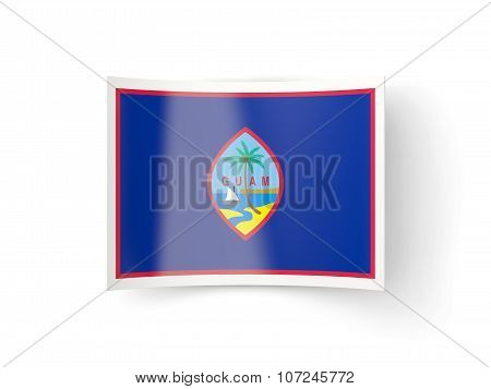 Bent Icon With Flag Of Guam