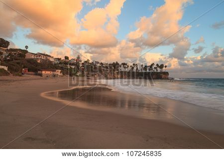 Sunset over Crescent Bay in Laguna Beach