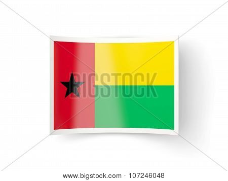 Bent Icon With Flag Of Guinea Bissau