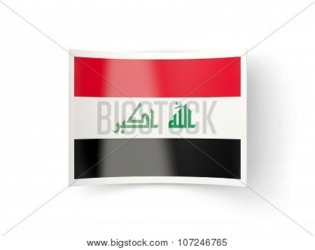 Bent Icon With Flag Of Iraq