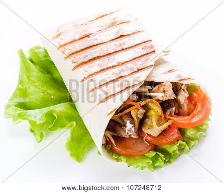 Shawarma In Pita Bread