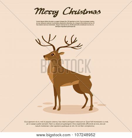 Deer Cartoon Animal Reindeer Vector
