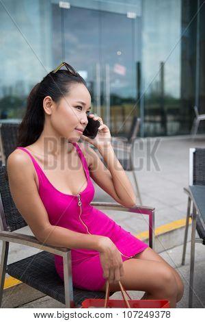Lady In Fuchsia