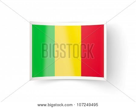 Bent Icon With Flag Of Mali