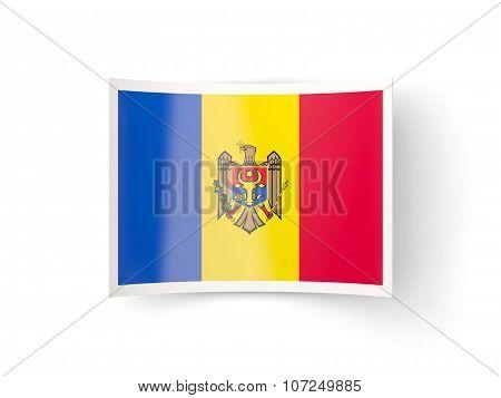 Bent Icon With Flag Of Moldova