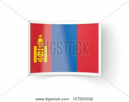 Bent Icon With Flag Of Mongolia