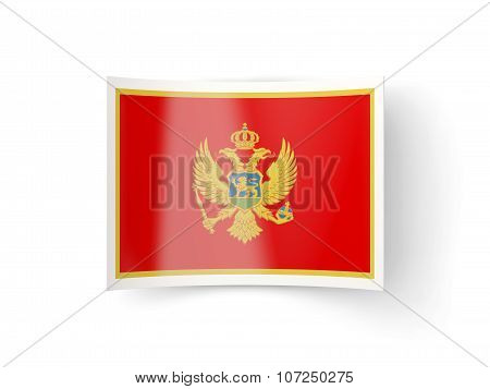 Bent Icon With Flag Of Montenegro