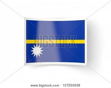 Bent Icon With Flag Of Nauru