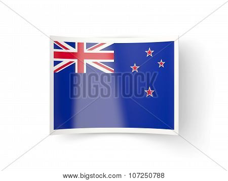 Bent Icon With Flag Of New Zealand